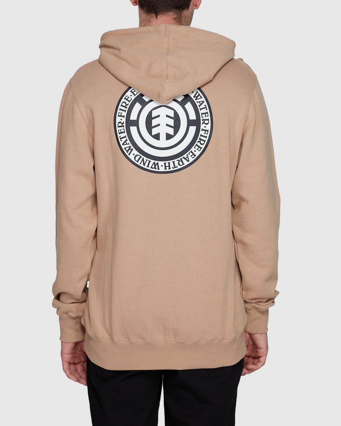 1 Seal Back Hoodie Grey 196325 Element