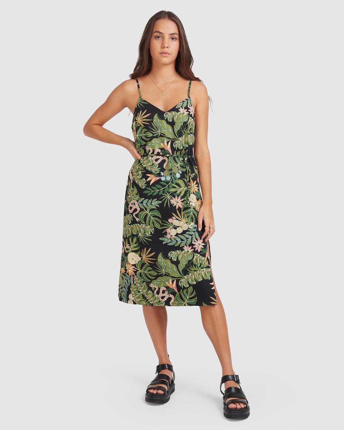 2 So Tropical Dress Black 205869 Element