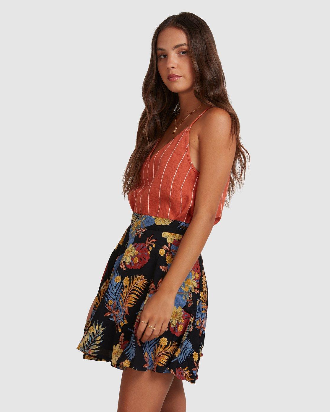 1 Amelie Tropical Skirt Black 217851 Element