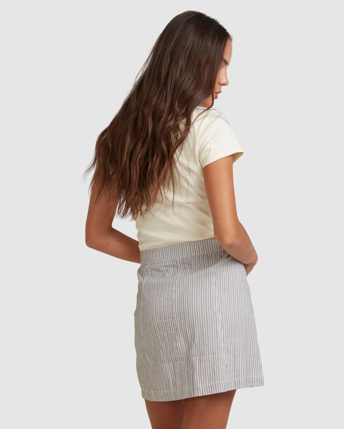 2 EDIE STRIPE SKIRT White 217852 Element