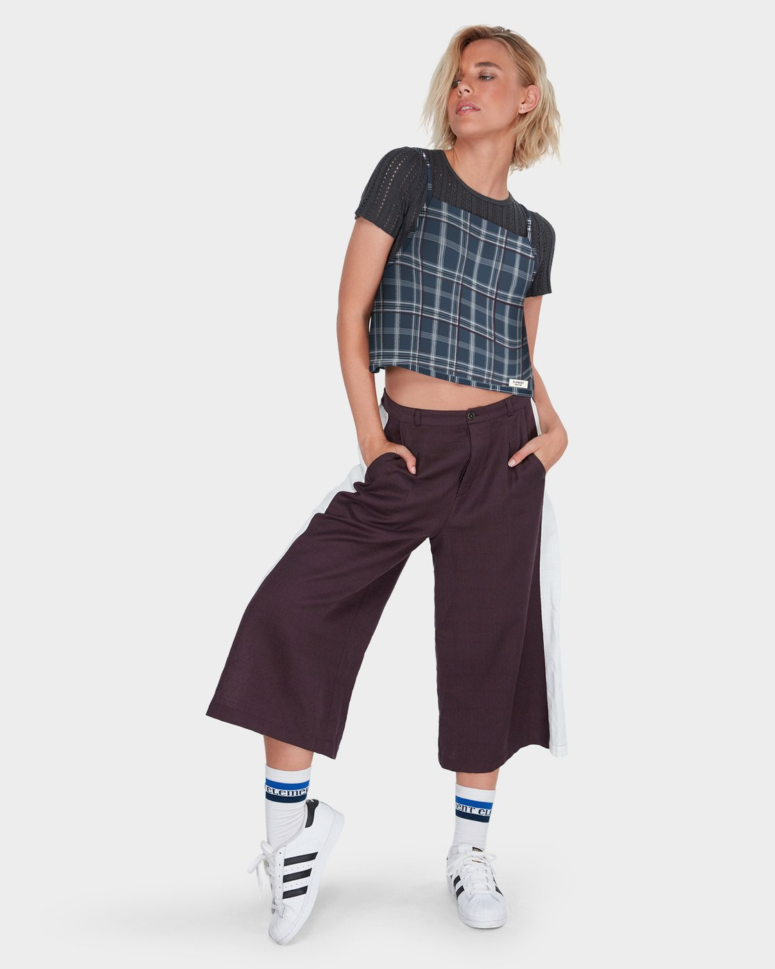 4 LOOPED CHECK CAMI Blue 284218 Element