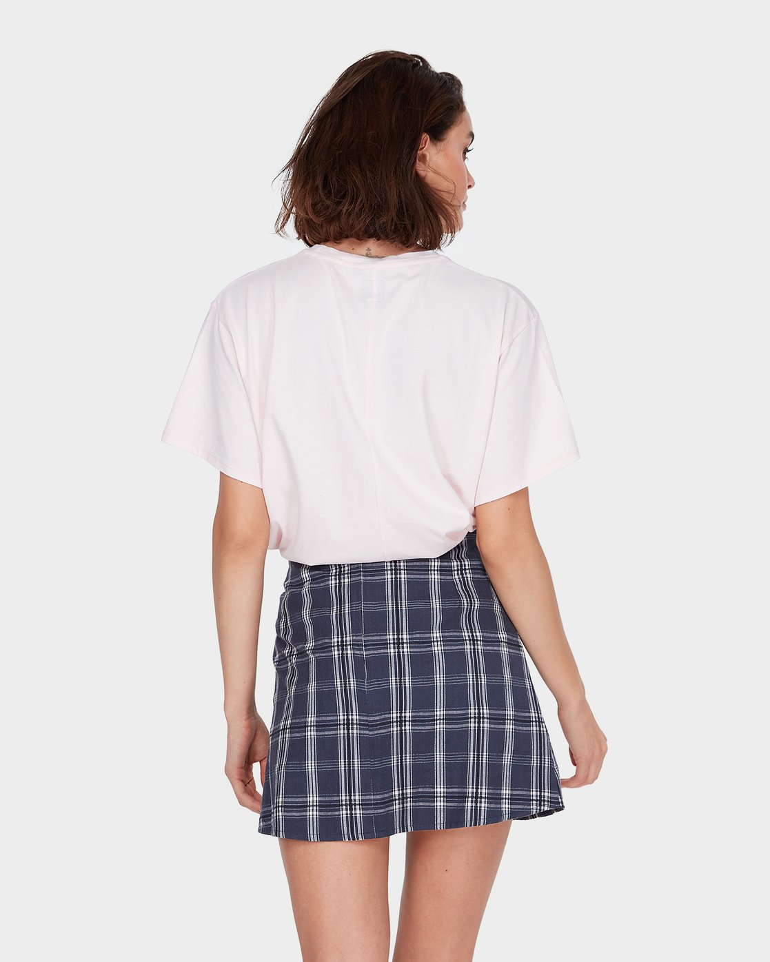 1 LOOPED CHECK SKIRT Blue 284854 Element
