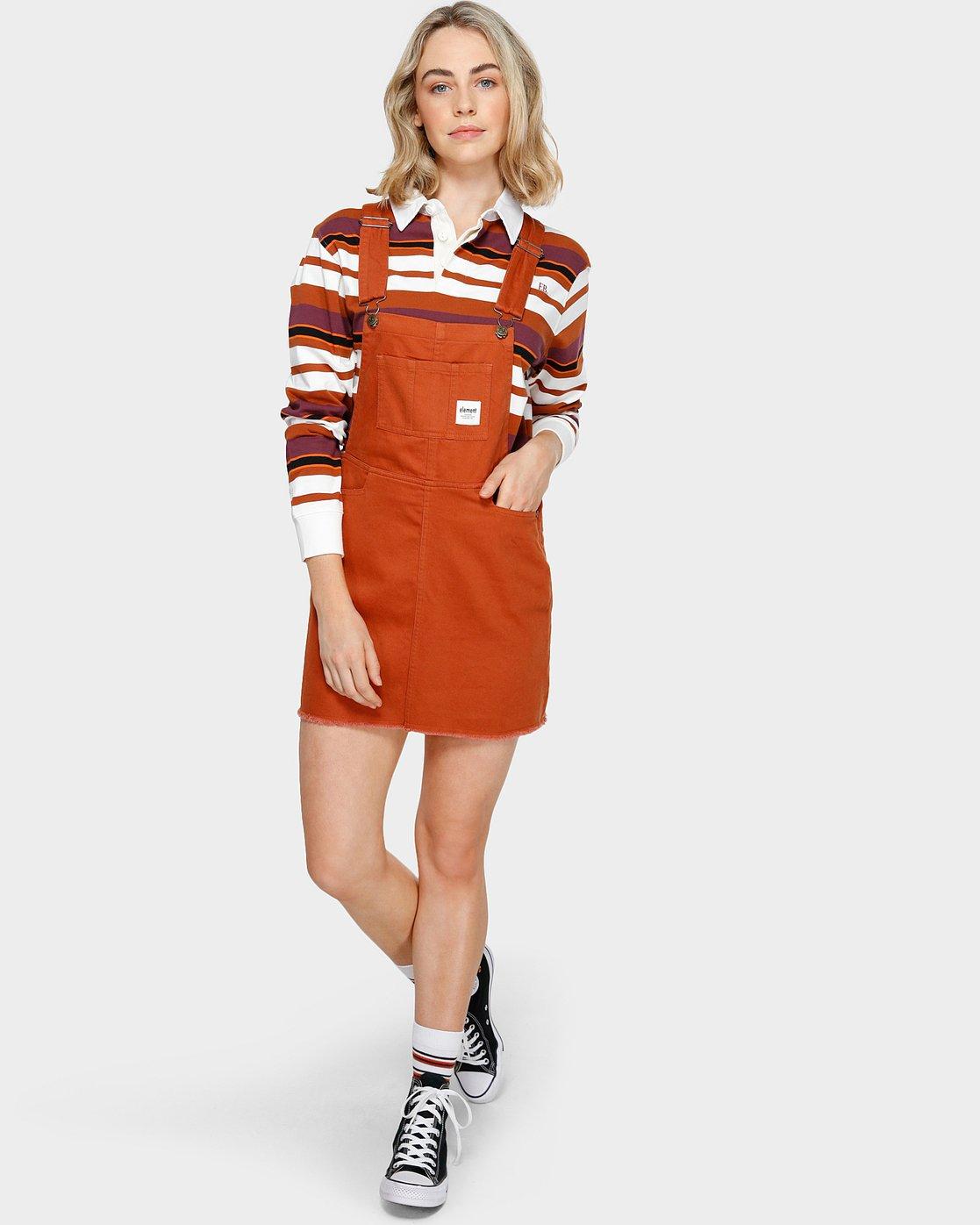 3 OLIVIA PINAFORE DRESS Orange 293869 Element