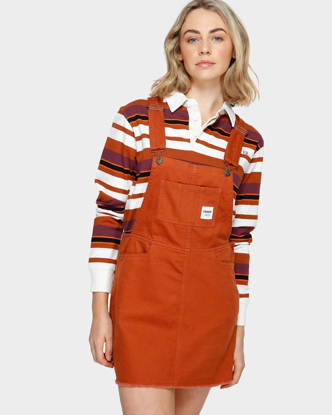 0 OLIVIA PINAFORE DRESS Orange 293869 Element