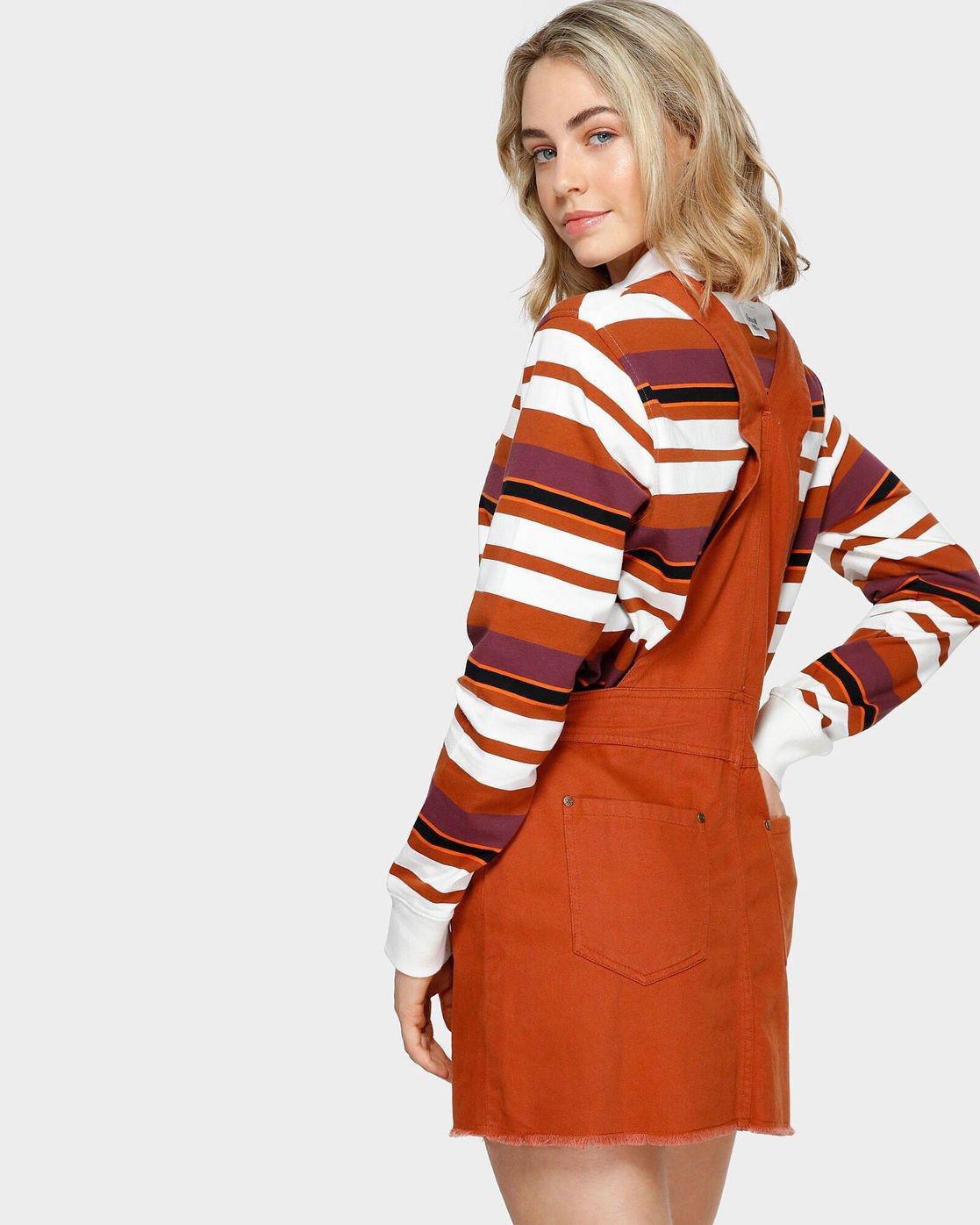 2 OLIVIA PINAFORE DRESS Orange 293869 Element