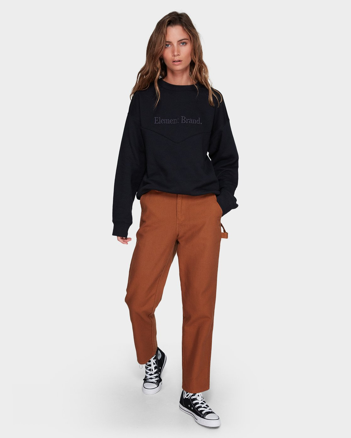 3 UTILITY PANT Brown 296263 Element