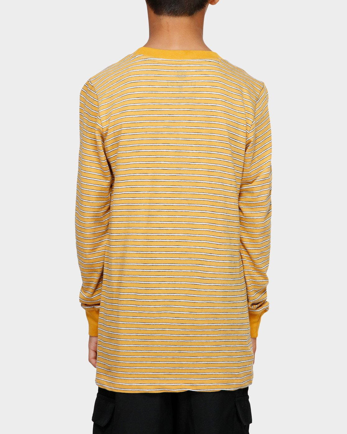 1 YOUTH GRIND STRIPE LS TEE Yellow 393051 Element