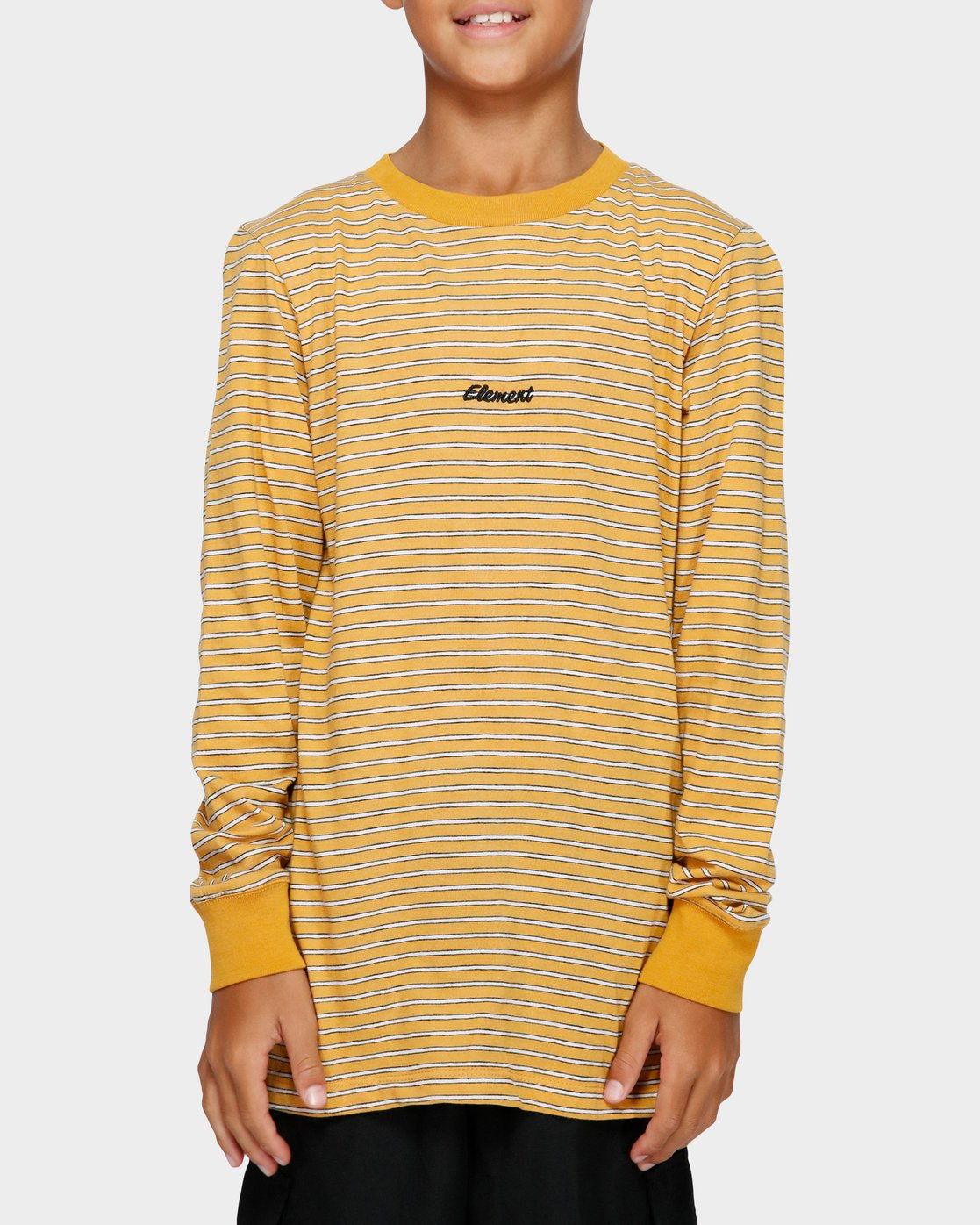 0 YOUTH GRIND STRIPE LS TEE Yellow 393051 Element