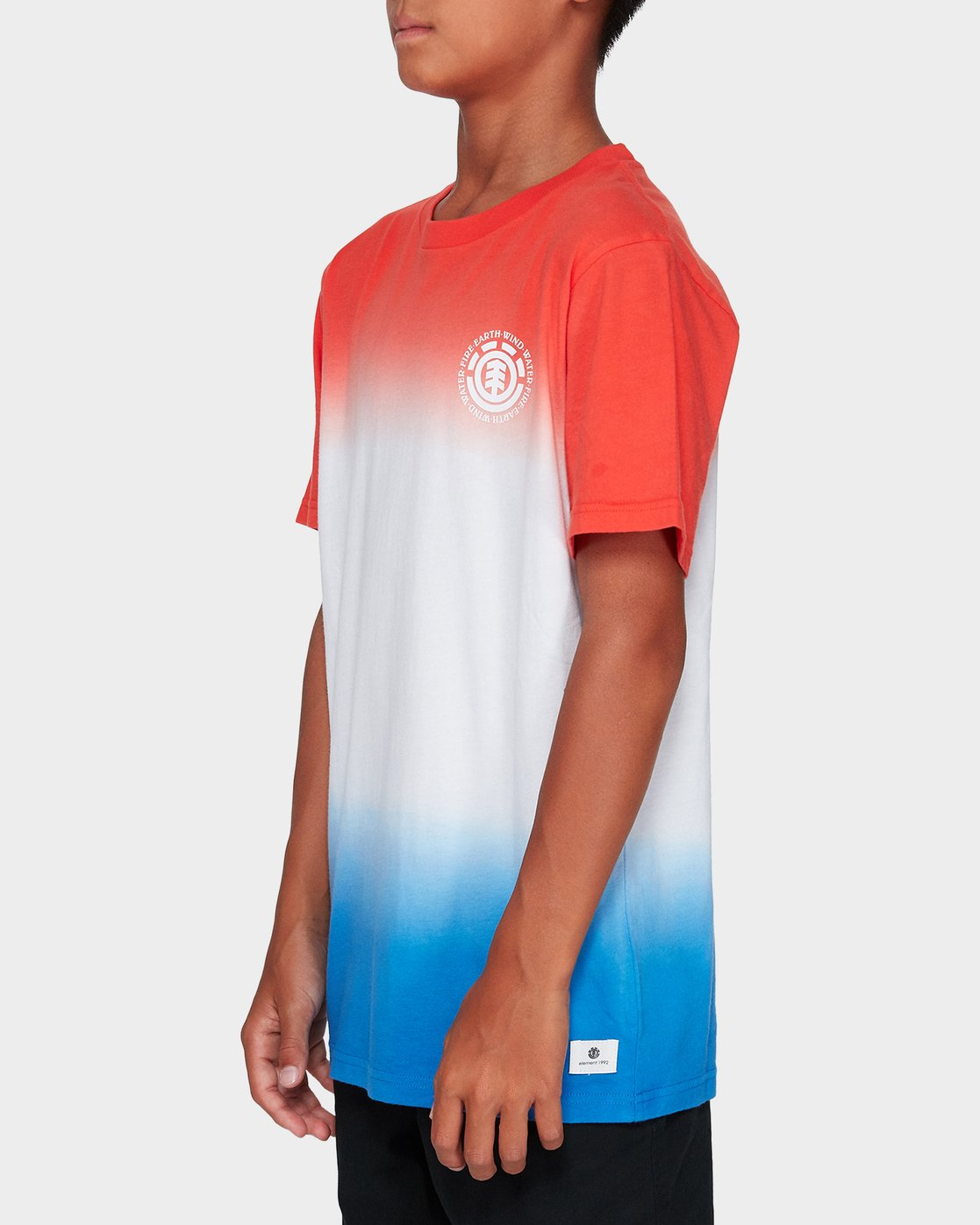 1 YOUTH FADE OUT SS TEE Red 394004 RVCA