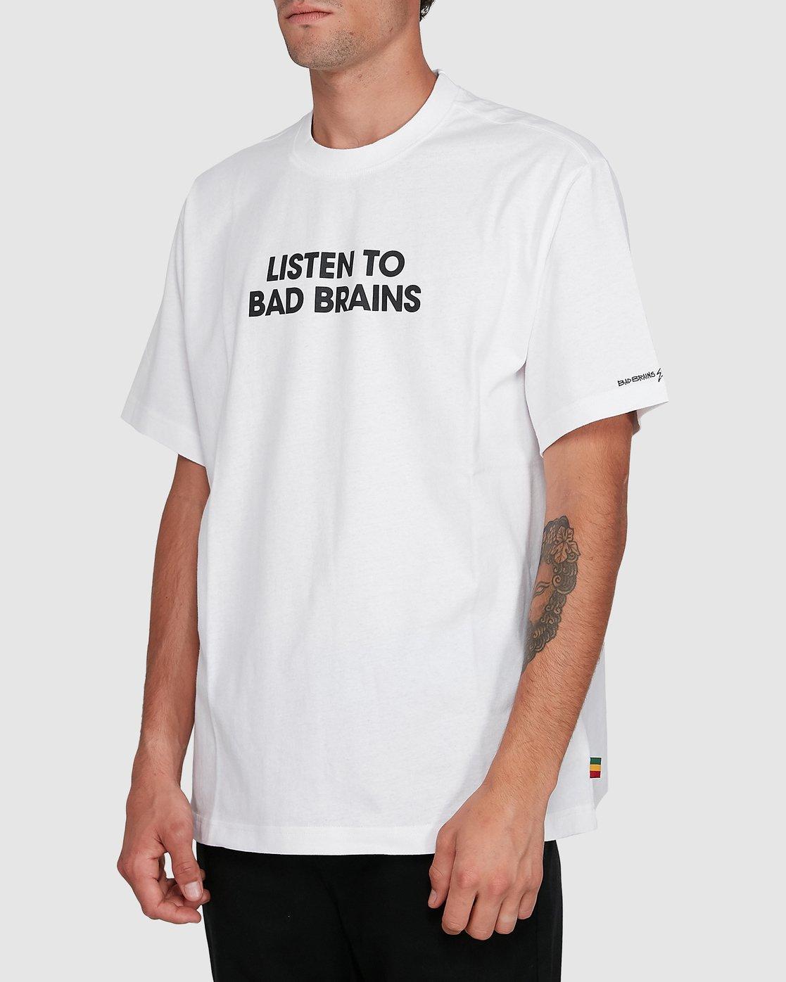 2 LISTEN TO BAD BRAINS SHORT SLEEVE TEE White 502008 Element