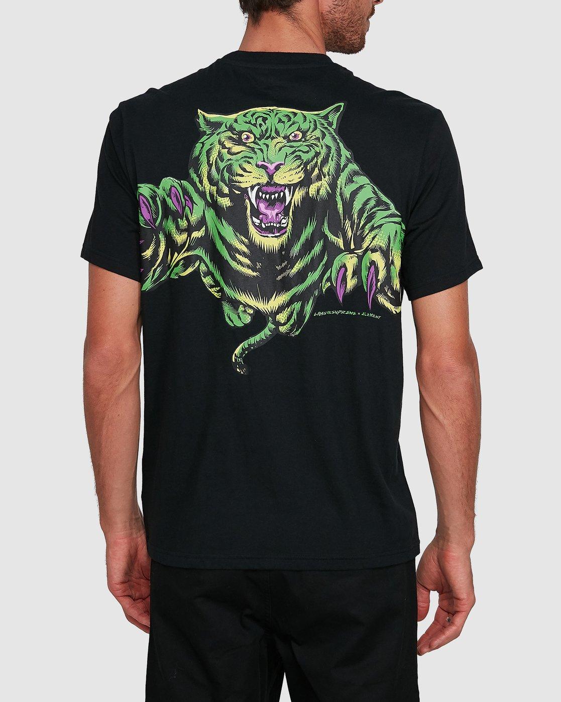 1 BIG CAT SHORT SLEEVE TEE Black 502011 Element