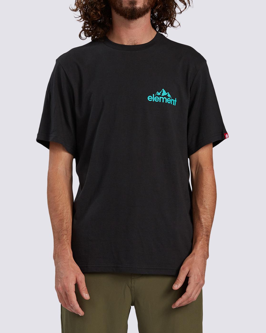 0 Duggar Chest T-Shirt Blue ALMZT00125 Element