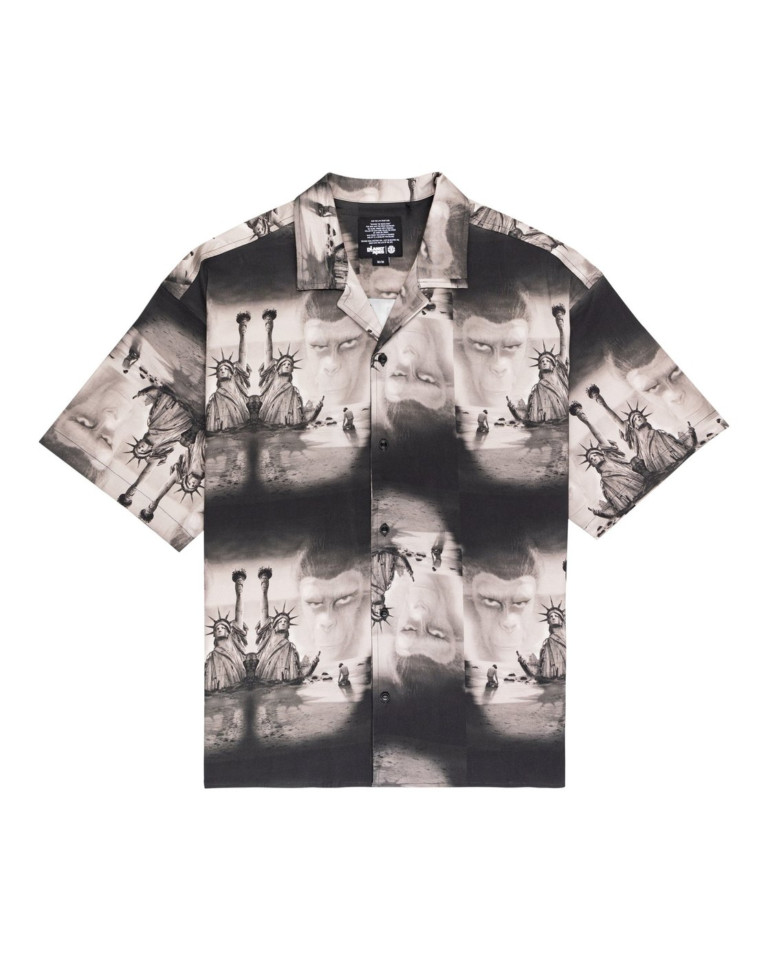 0 Planet of the Apes Paradise Short Sleeve Button-Down Shirt  ALYWT00124 Element