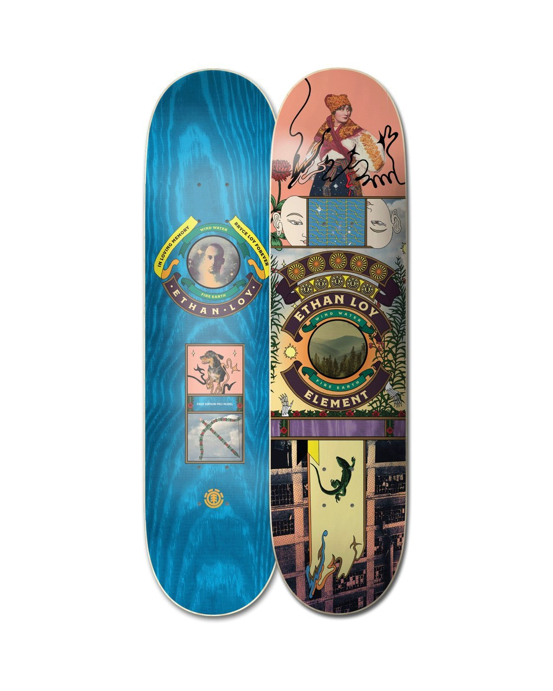 1 Ethan Paradise Skateboard Deck  ALYXD00182 Element