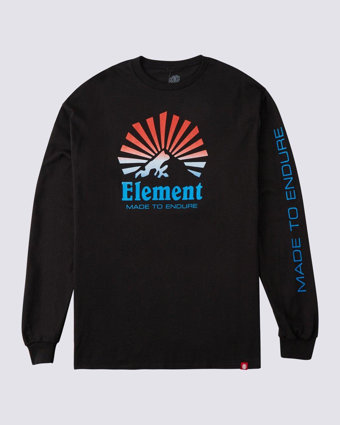 0 Sunray Gradient Long Sleeve T-Shirt Blue ALYZT00177 Element