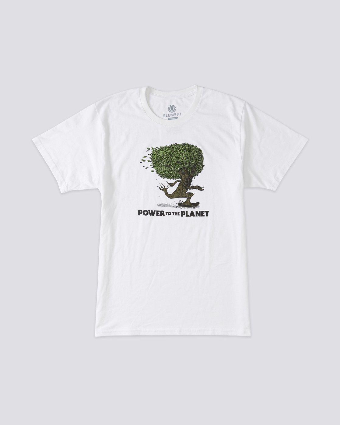 2 Mottilaa Pushing Trees T-Shirt White ALYZT00188 Element