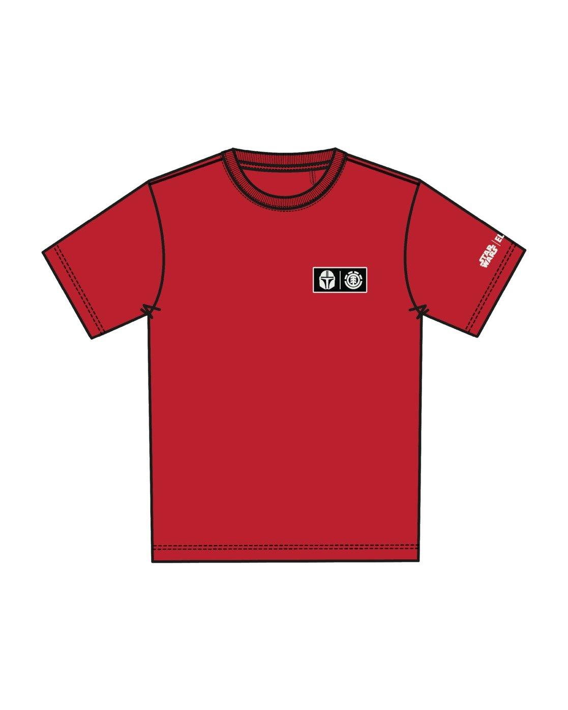 6 Star Wars™ x Element Mando T-Shirt Red ALYZT00258 Element