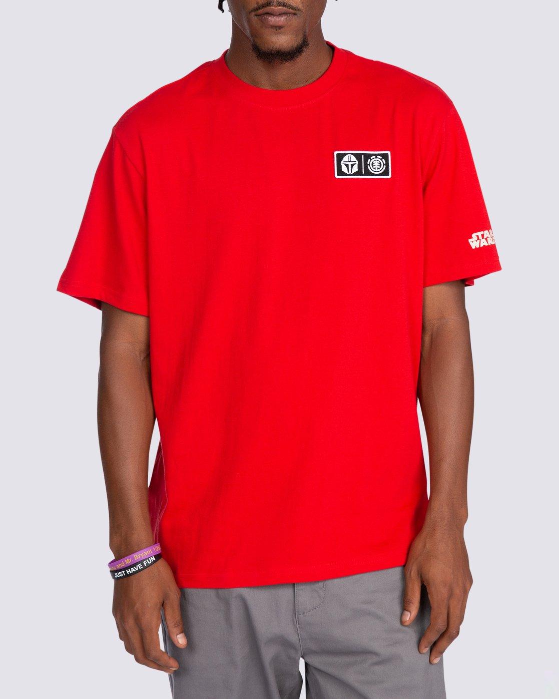 0 Star Wars™ x Element Mando T-Shirt Red ALYZT00258 Element