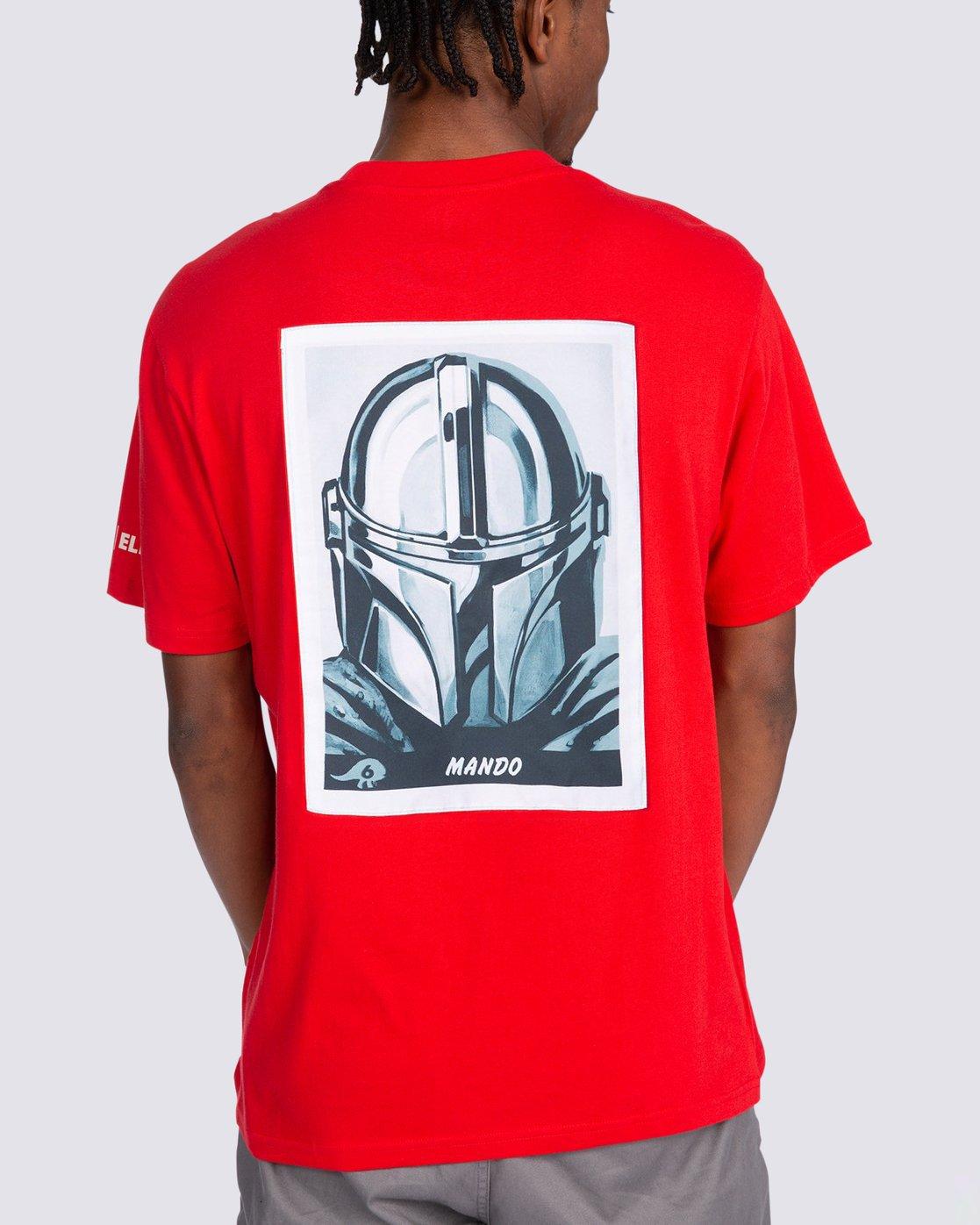 5 Star Wars™ x Element Mando T-Shirt Red ALYZT00258 Element