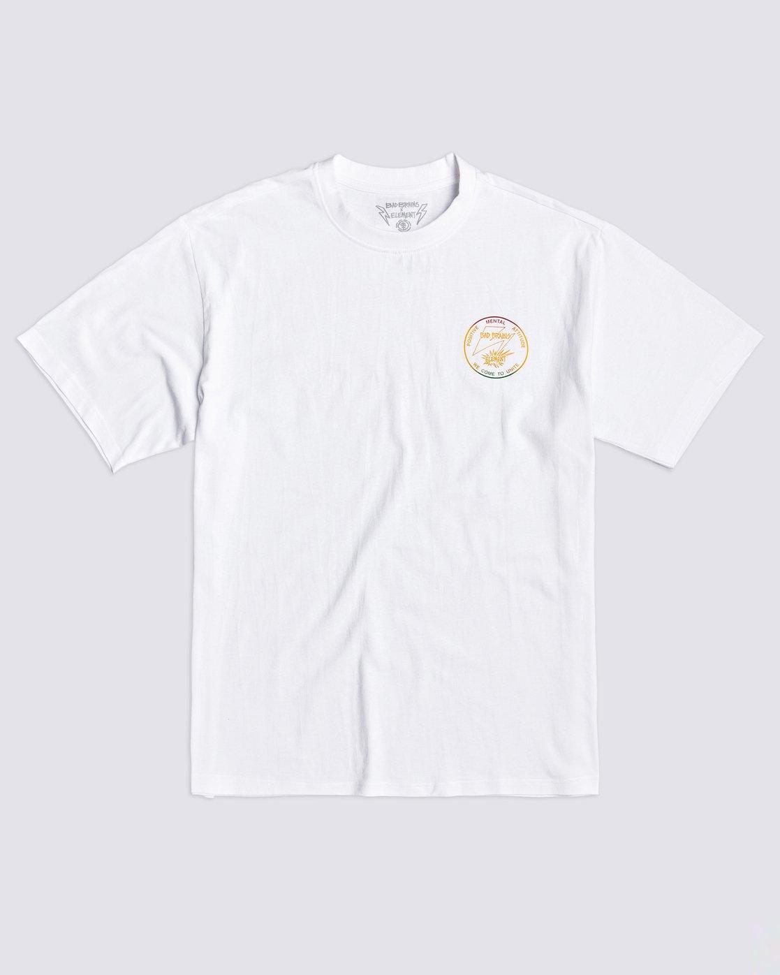 0 PMA Fade T-Shirt White ALYZT00335 Element