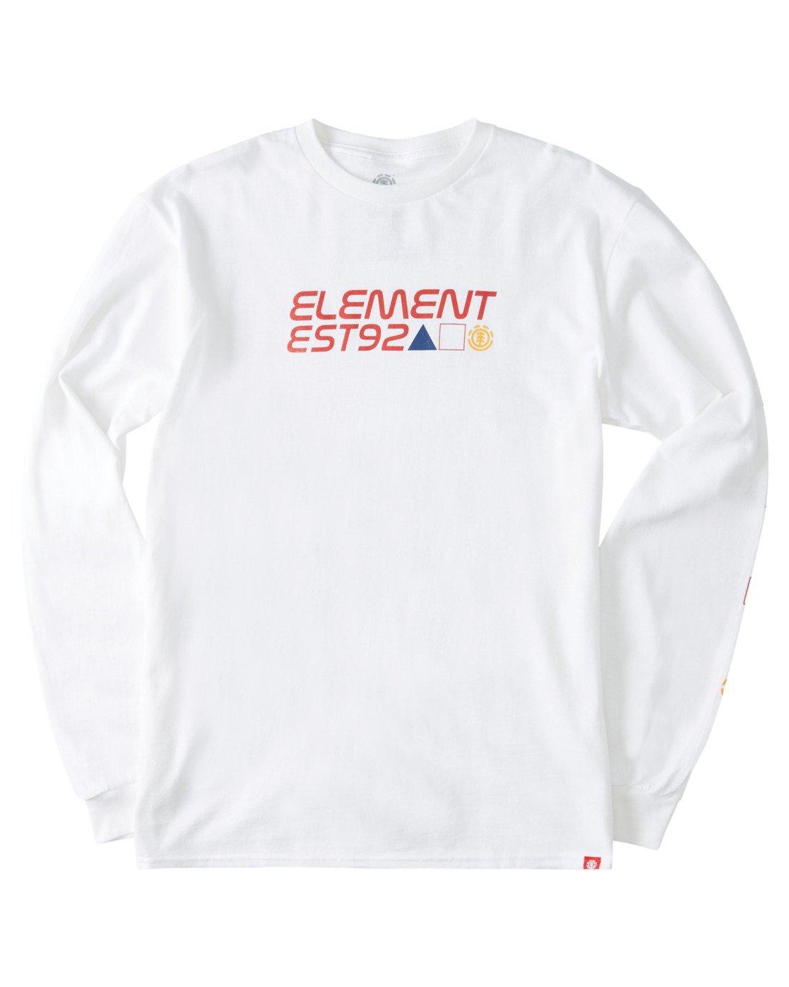 2 Hiro Long Sleeve T-Shirt White ALYZT00367 Element
