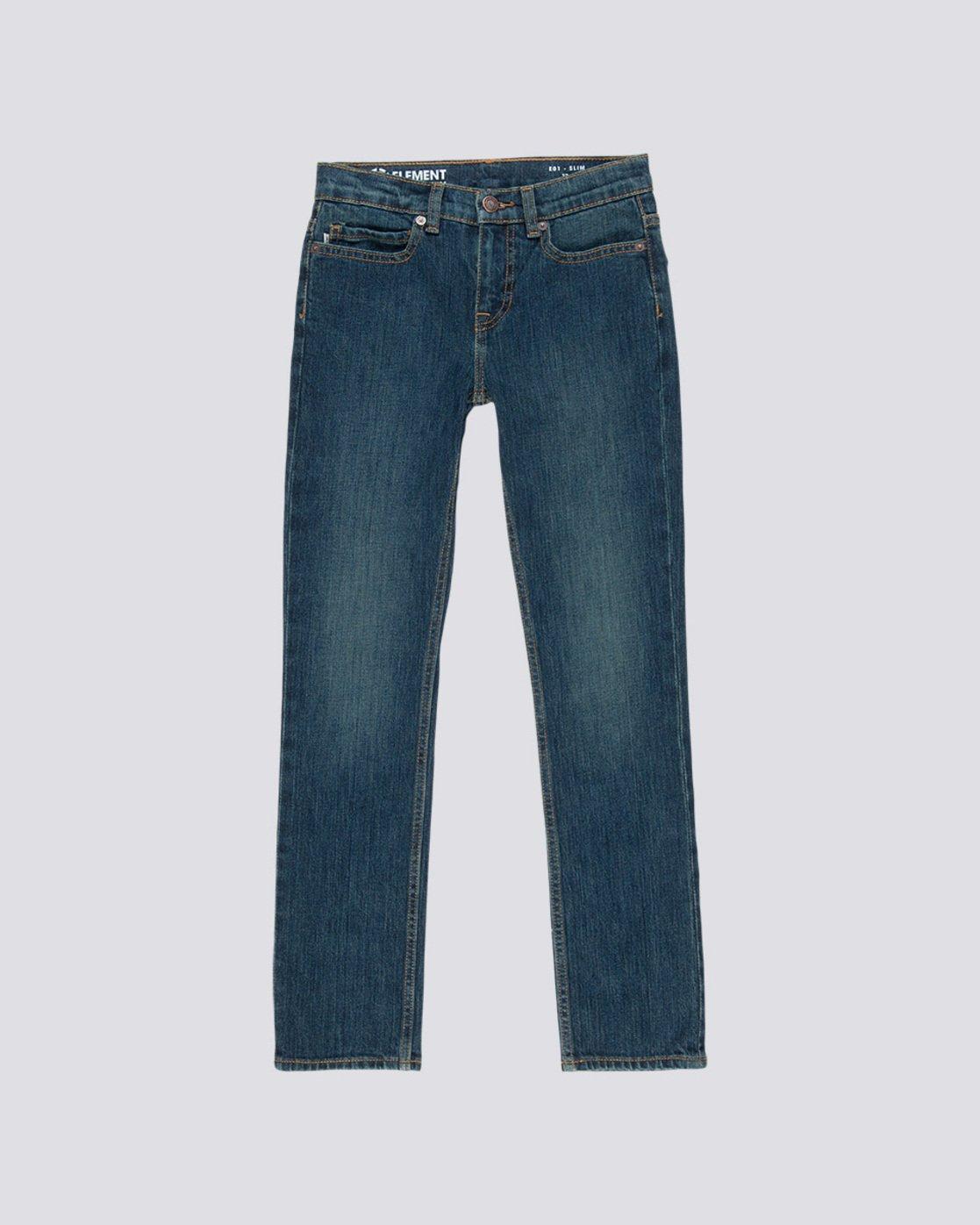 0 Boy's E01 Slim Fit Jeans Blue B351QEE1 Element
