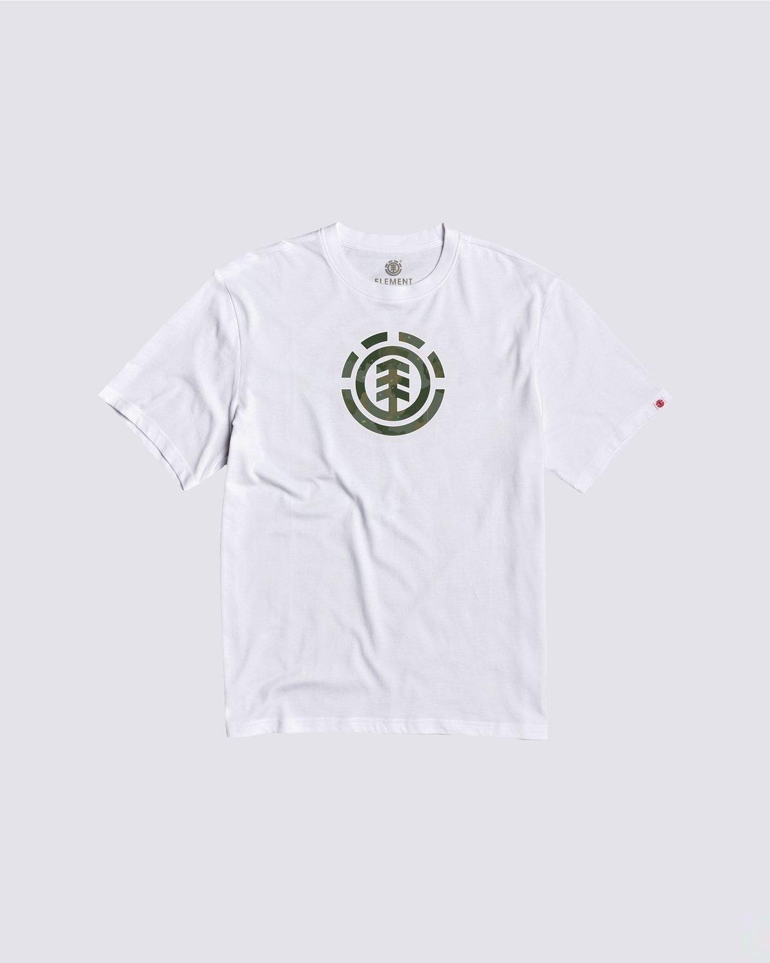 0 Boys' Water Camo T-Shirt White B4013EWA Element