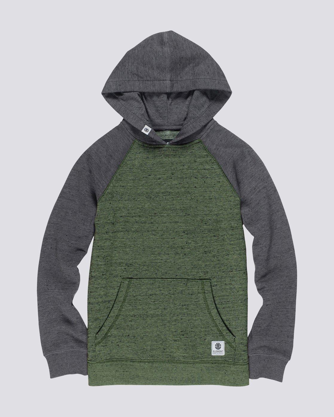 0 Boy's Meridian Block Pullover Hoodie  B635QEBH Element