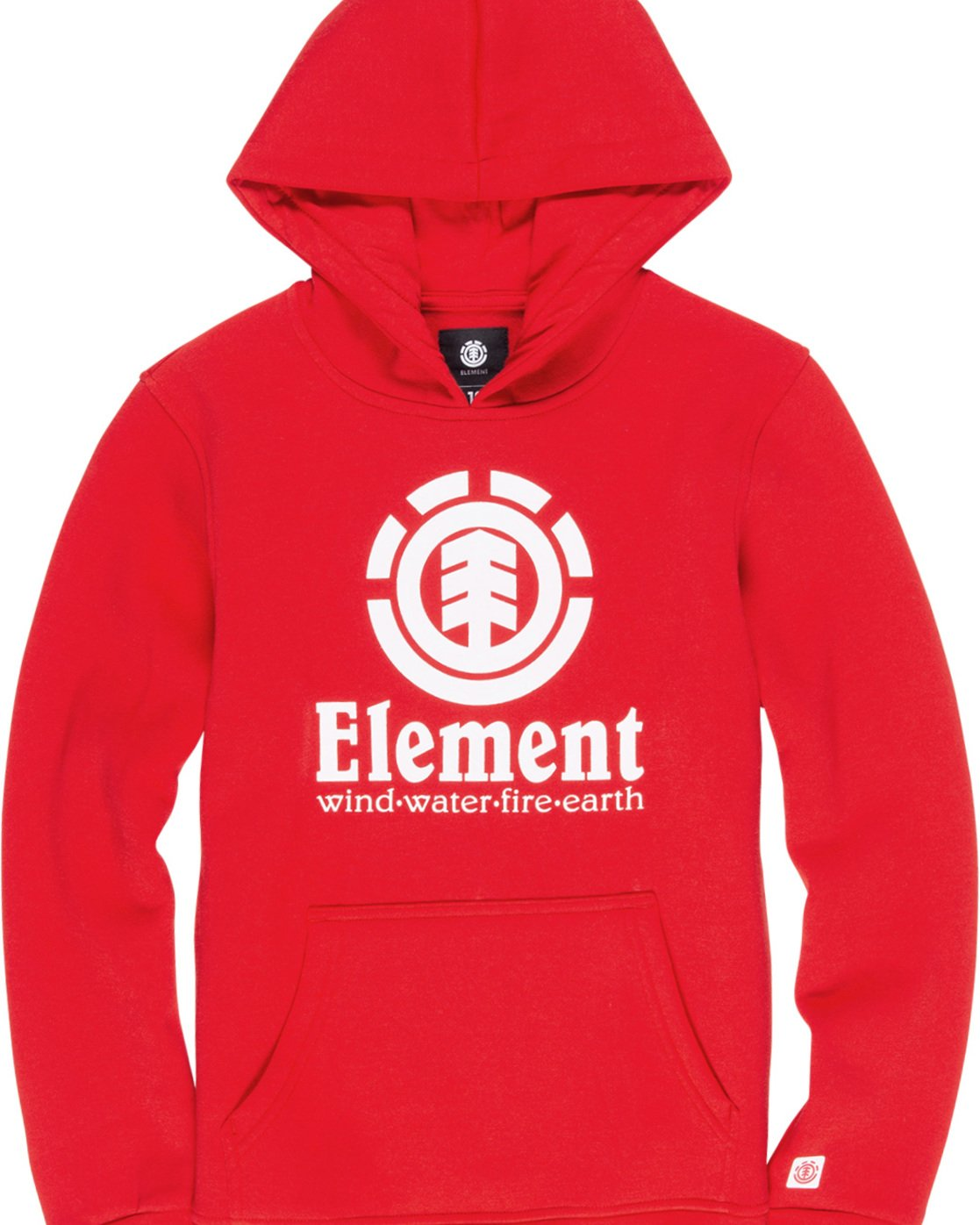 1 Boy's Vertical Pullover Hoodie Red B644TEVH Element