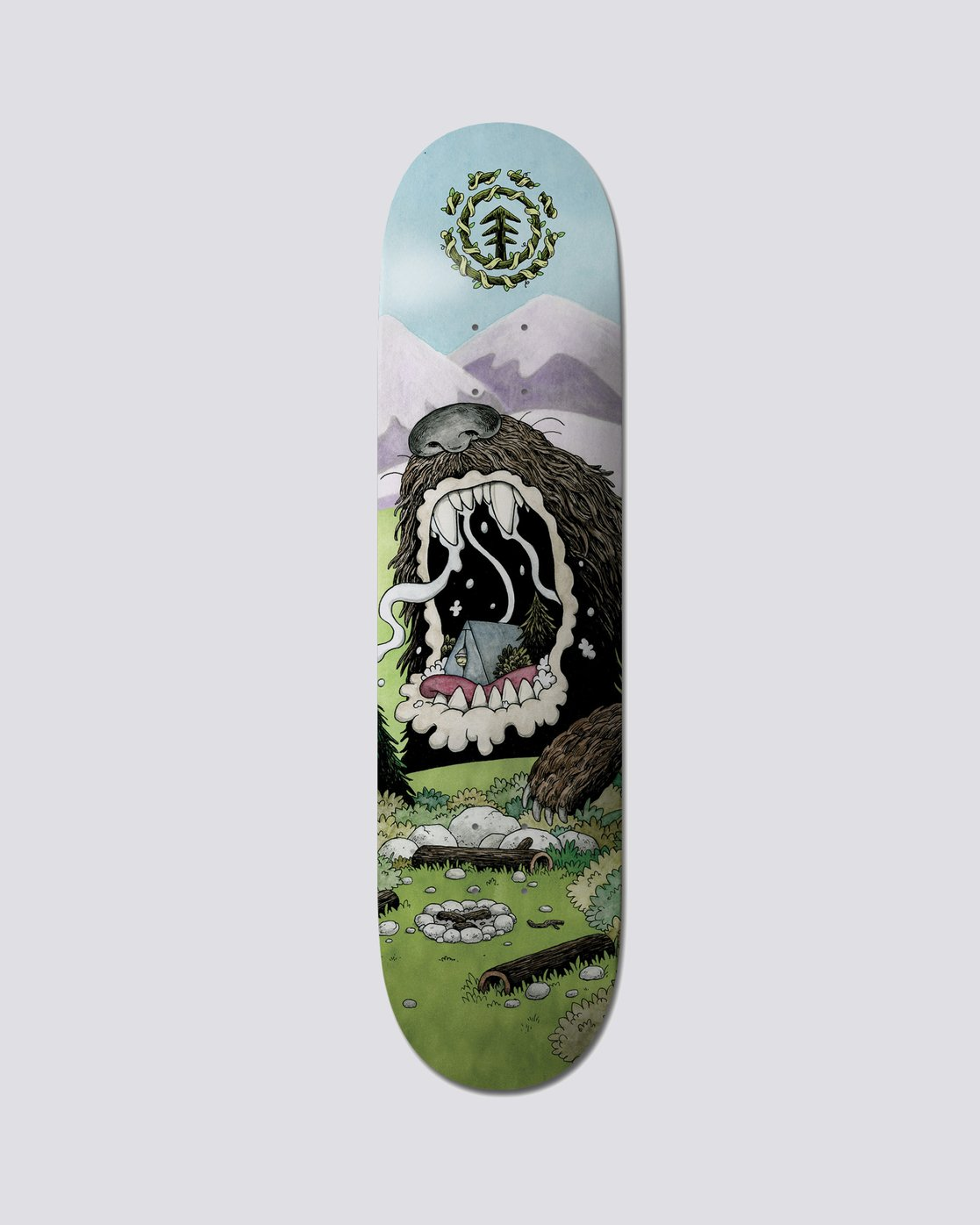 "1 Nature Wins Bear 8.25"" Skateboard Deck  BDLG1NWB Element"