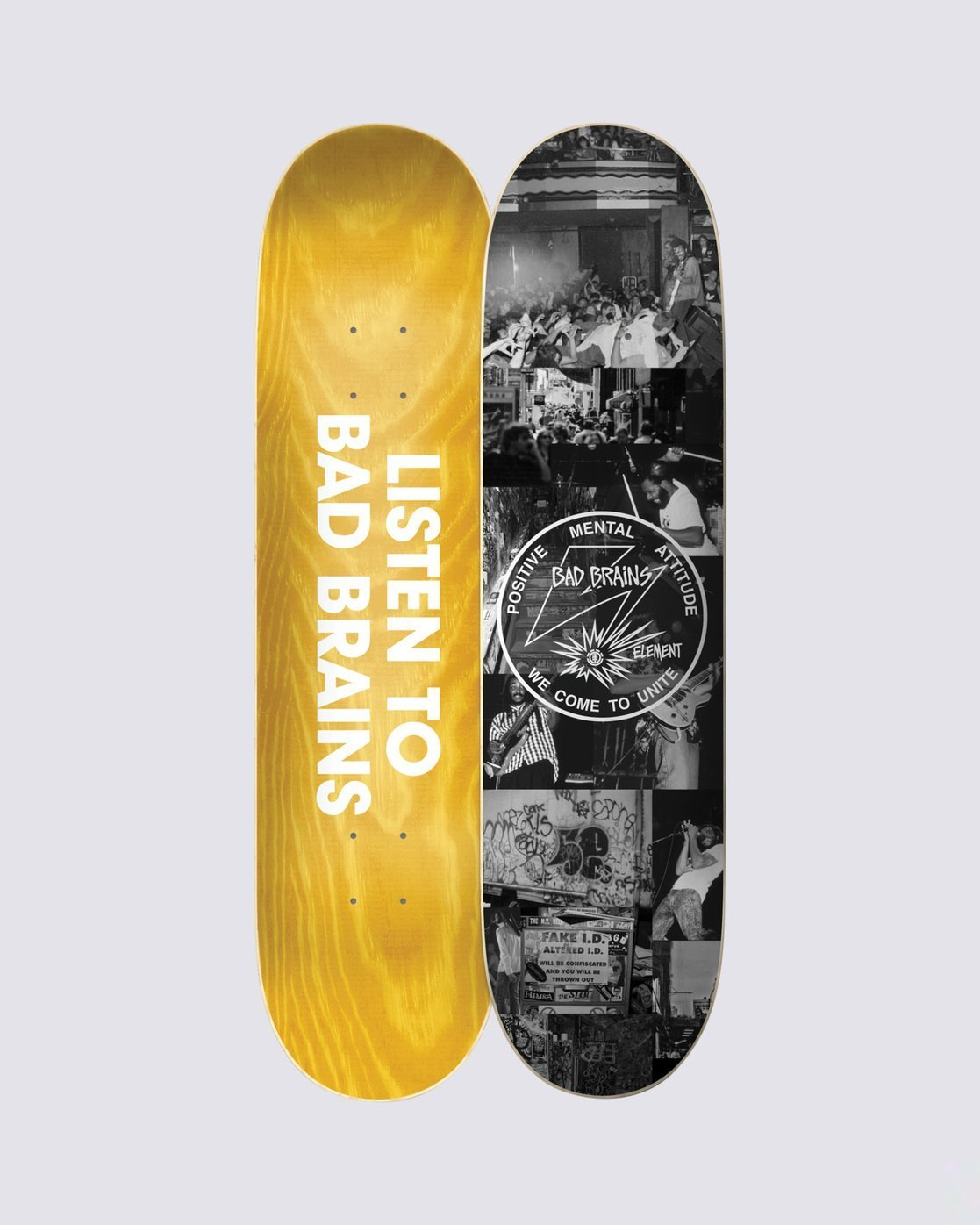 3 Bad Brains x BJ Papas Skateboard Deck  BDLG3BBJ Element