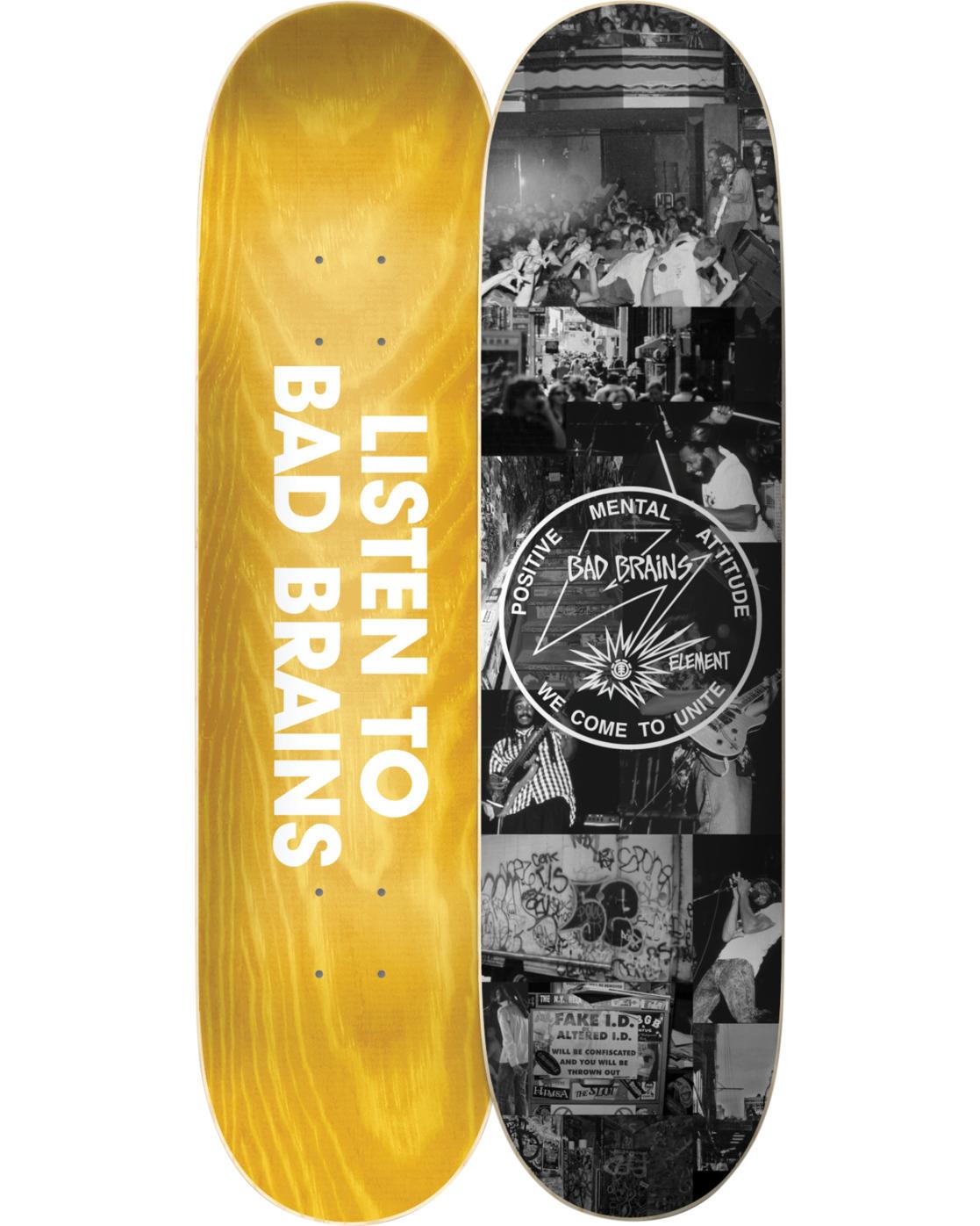 2 Bad Brains x BJ Papas Skateboard Deck  BDLG3BBJ Element