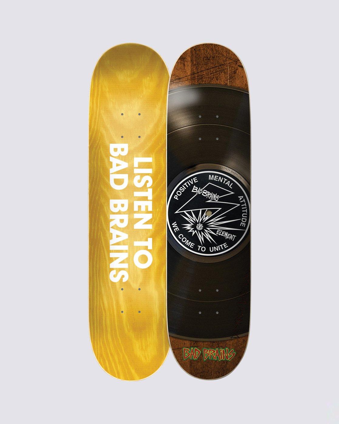 0 Bad Brains Selector Skateboard Deck Multicolor BDLG3BBS Element