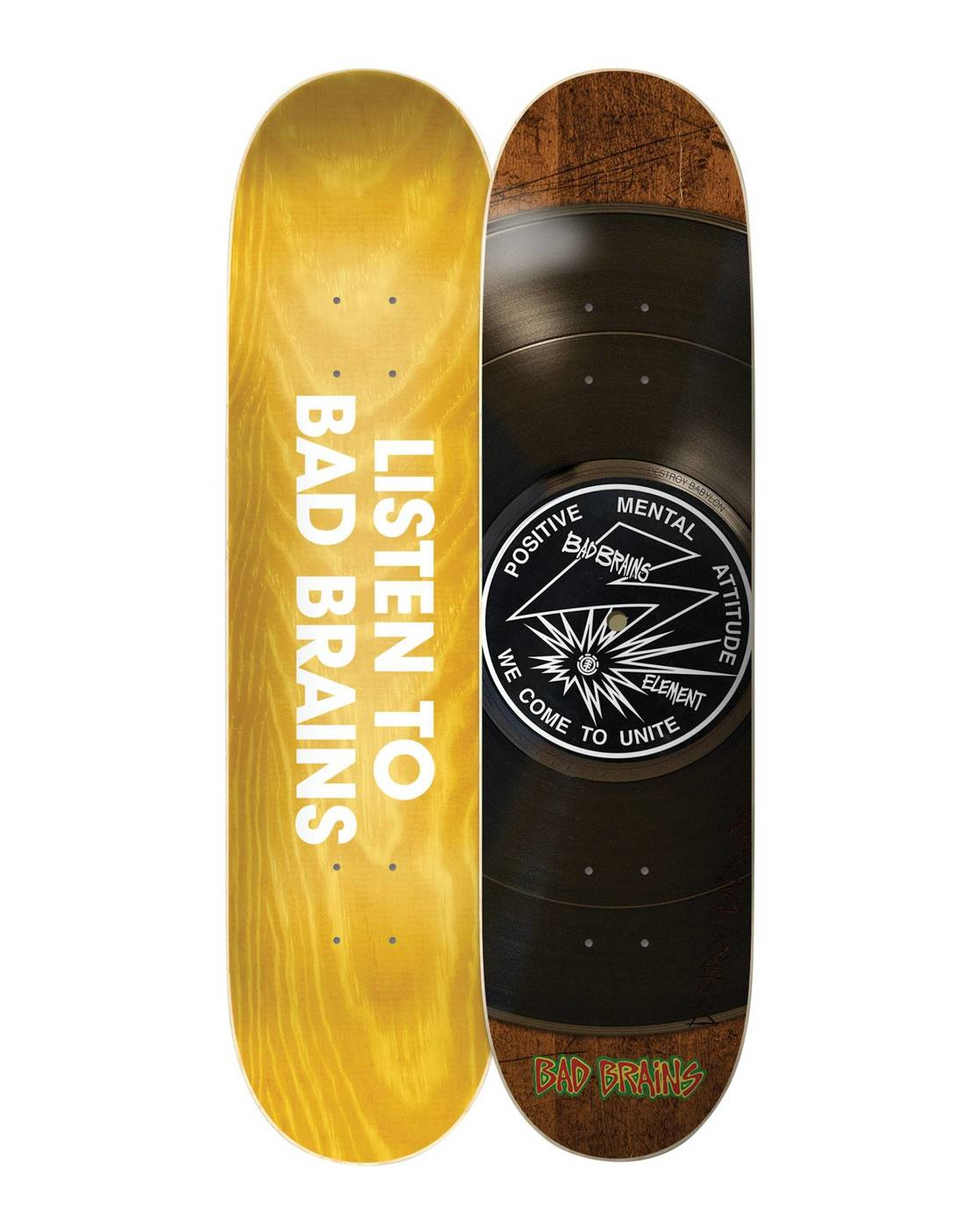 2 Bad Brains Selector Skateboard Deck  BDLG3BBS Element