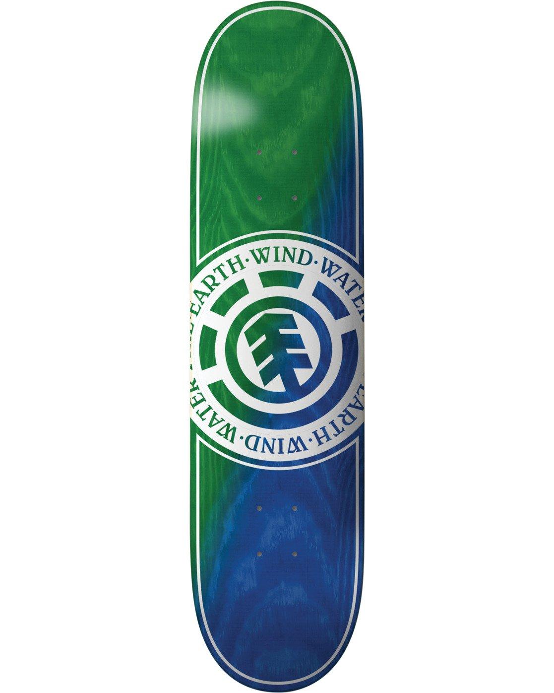 2 Seal Green Blue Skateboard Deck  BDLG3RGB Element