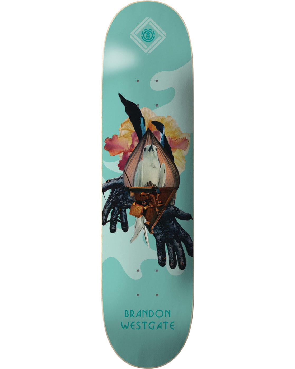 3 Cut Paste Westgate Skateboard Deck  BDPR3CPE Element