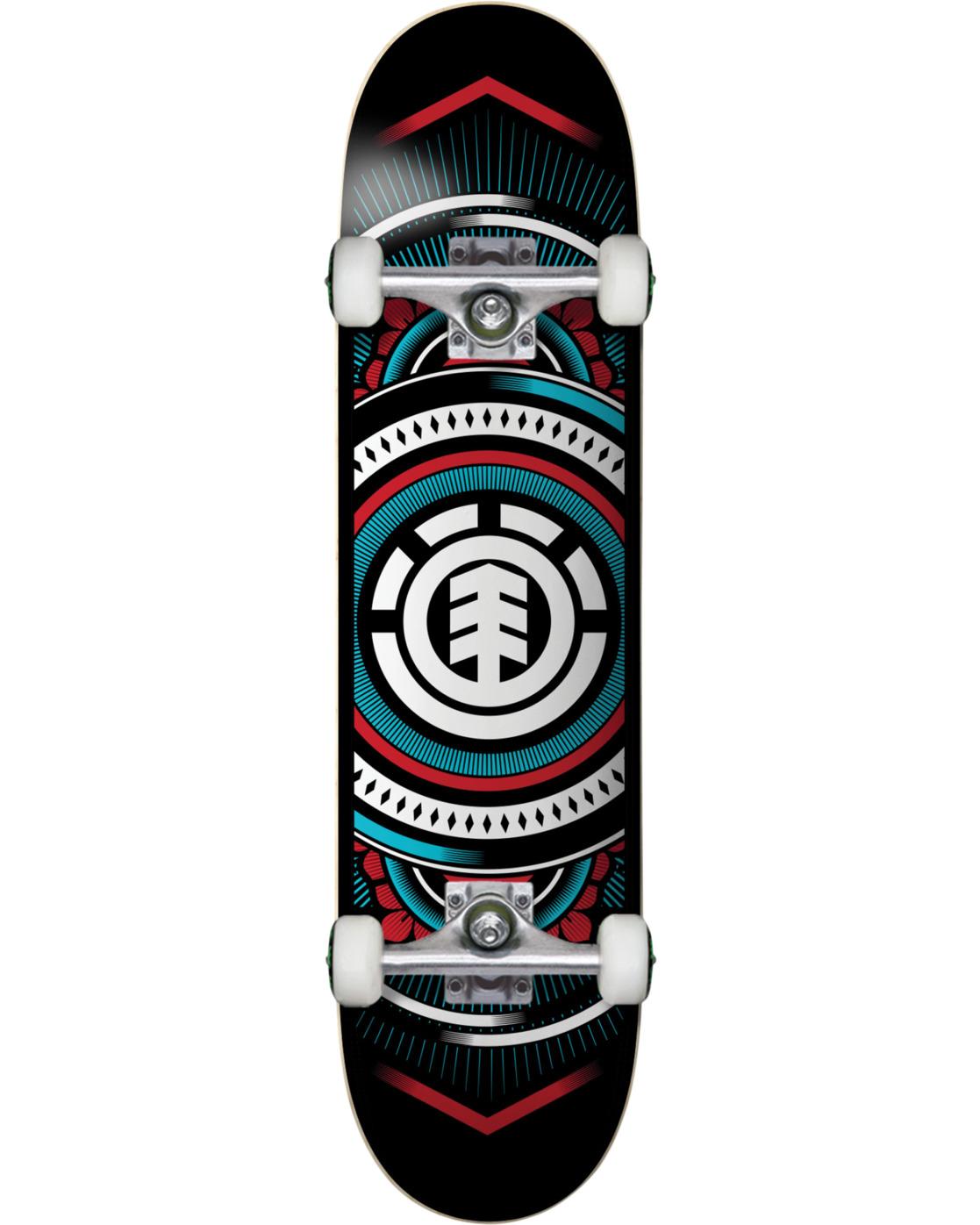 4 Hatched Red Blue Complete Skateboard  COLG3HTC Element