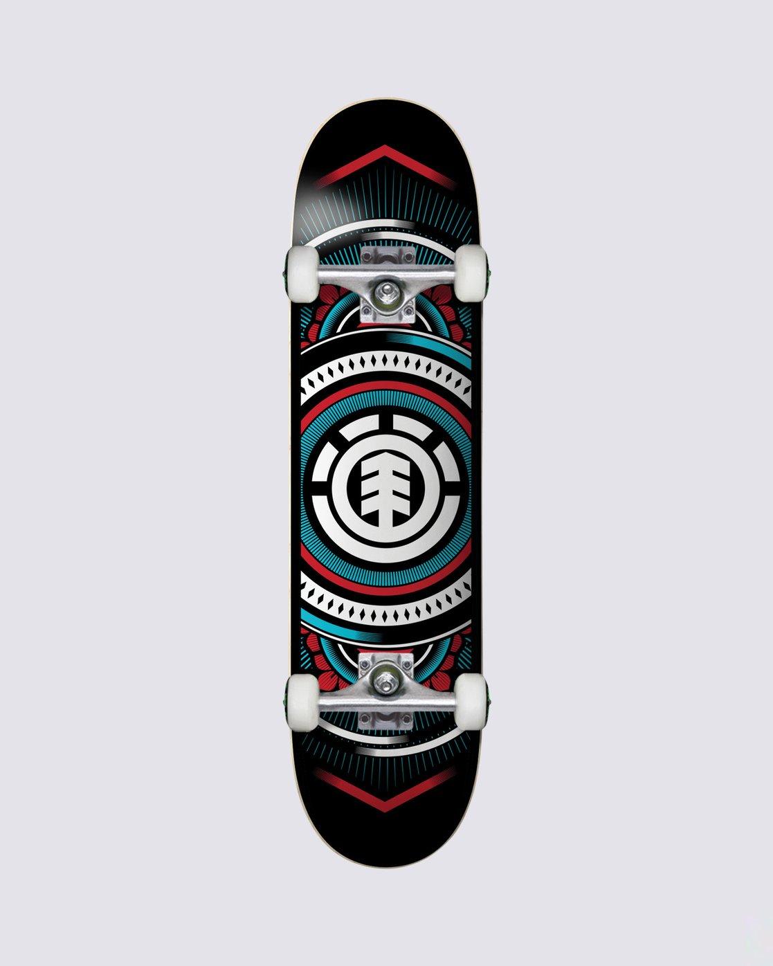 0 Hatched Red Blue Complete Skateboard  COLG3HTC Element