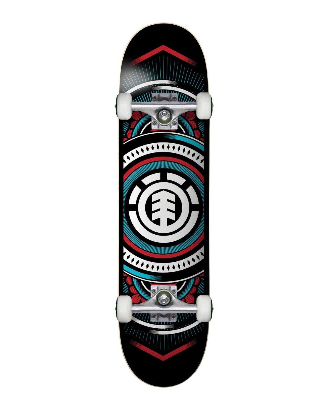 0 Hatched Red Blue Complete Skateboard Multicolor COLG3HTC Element