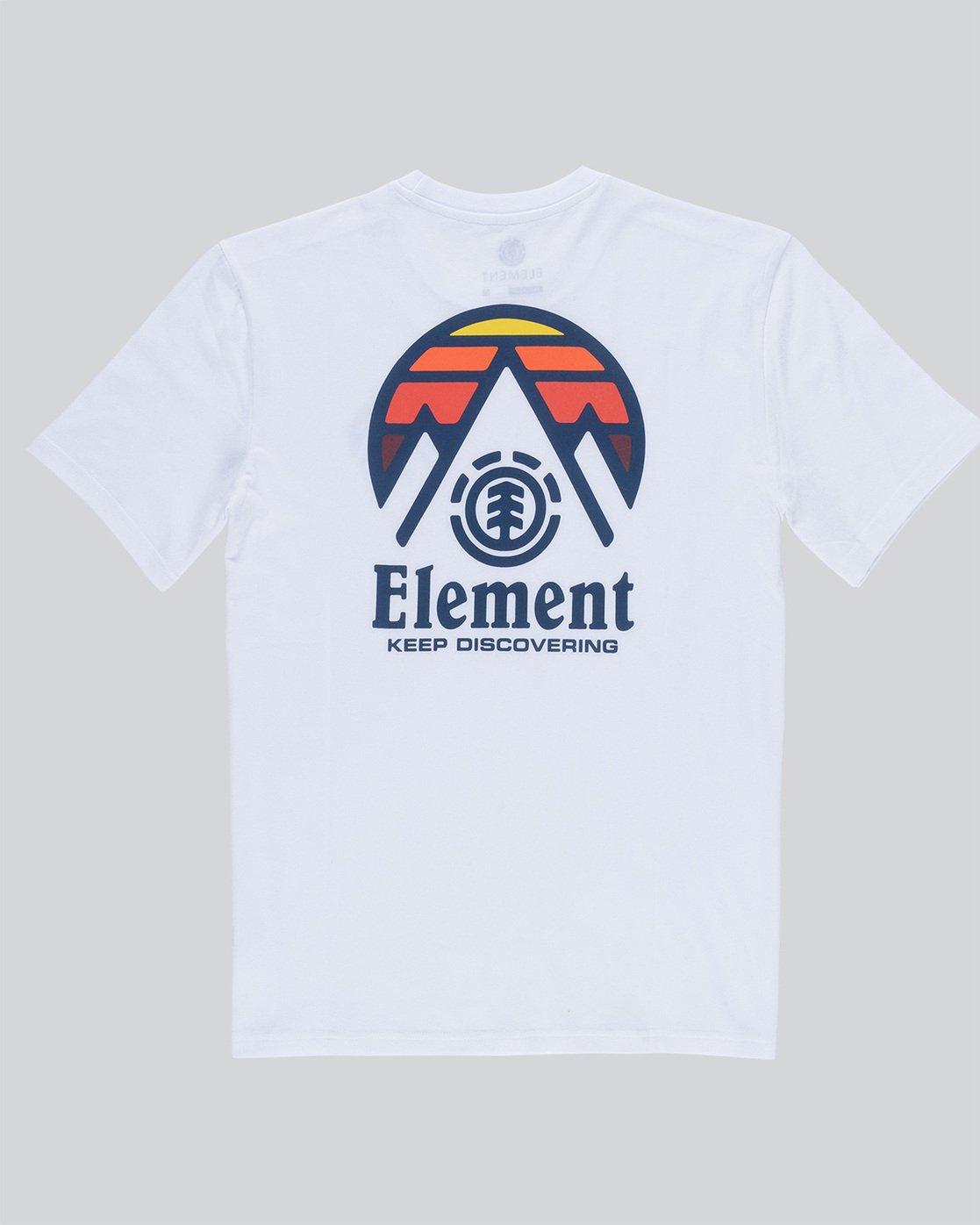 5 Tri Tip Ss - T-Shirt pour Homme Blanc F1SSC3ELF7 Element