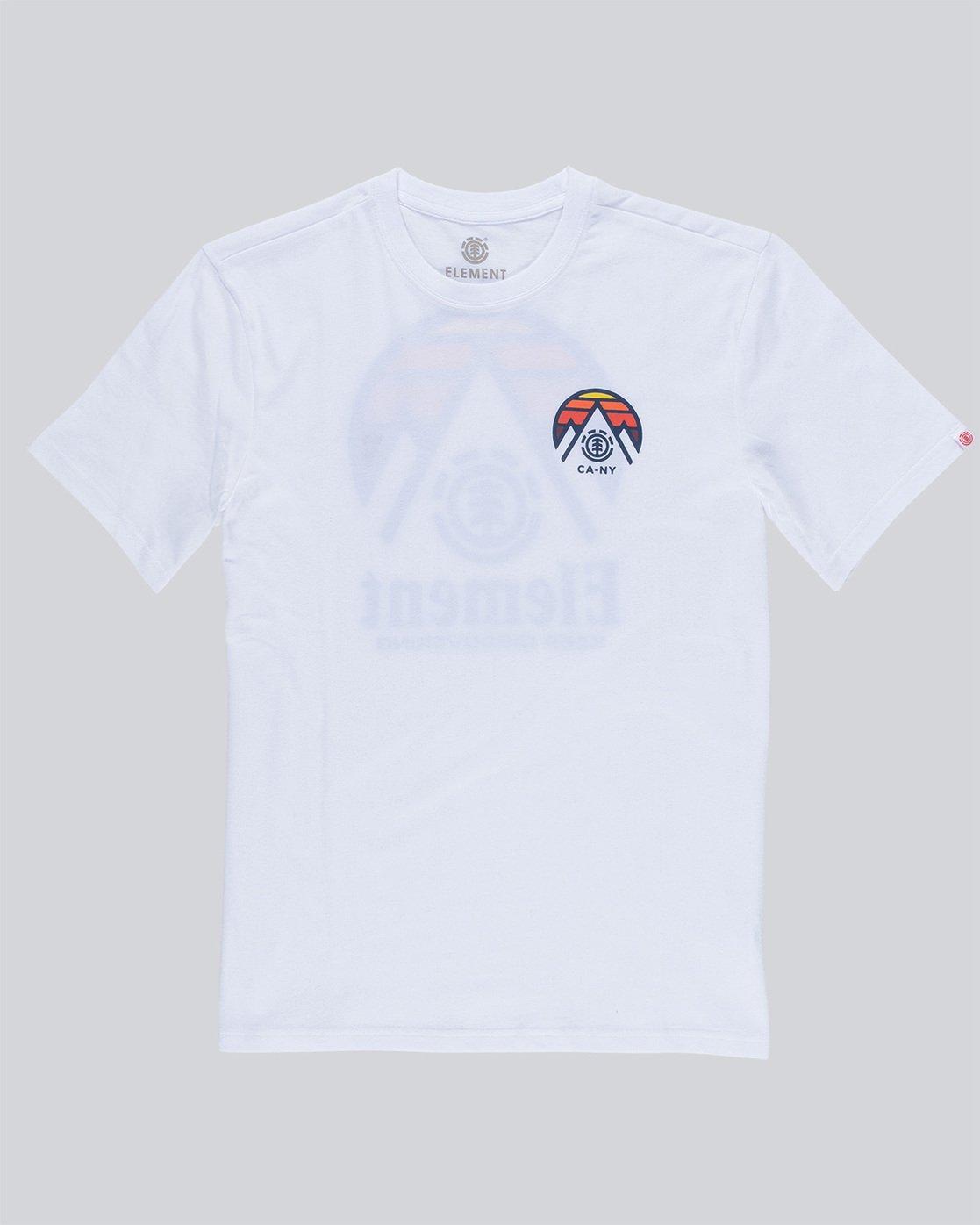 4 Tri Tip Ss - T-Shirt pour Homme Blanc F1SSC3ELF7 Element