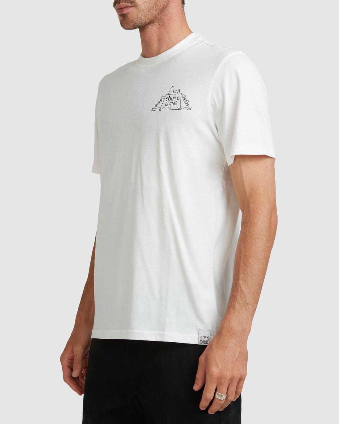 2 PEANUTS SIMPLE LIVING SHORT SLEEVE TEE White G517010 Element
