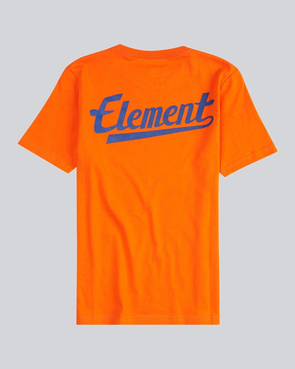 1 Script Back Ss Boy S - Tee Shirt for Men Orange H2SSA4ELMU Element
