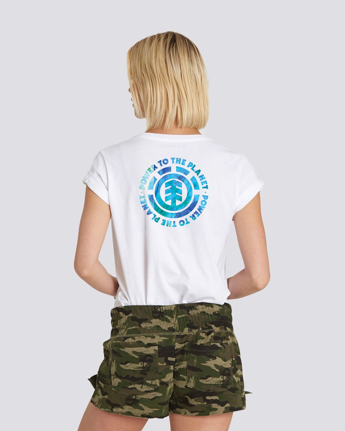 1 Power to the Planet Earth Day Tee White J402PEED Element