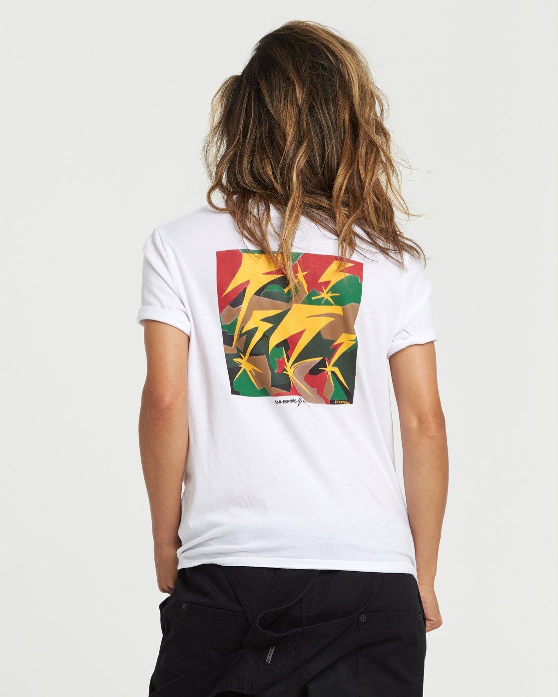 0 Bad Brains Brainstorm Boyfriend T-Shirt White J4031EBB Element