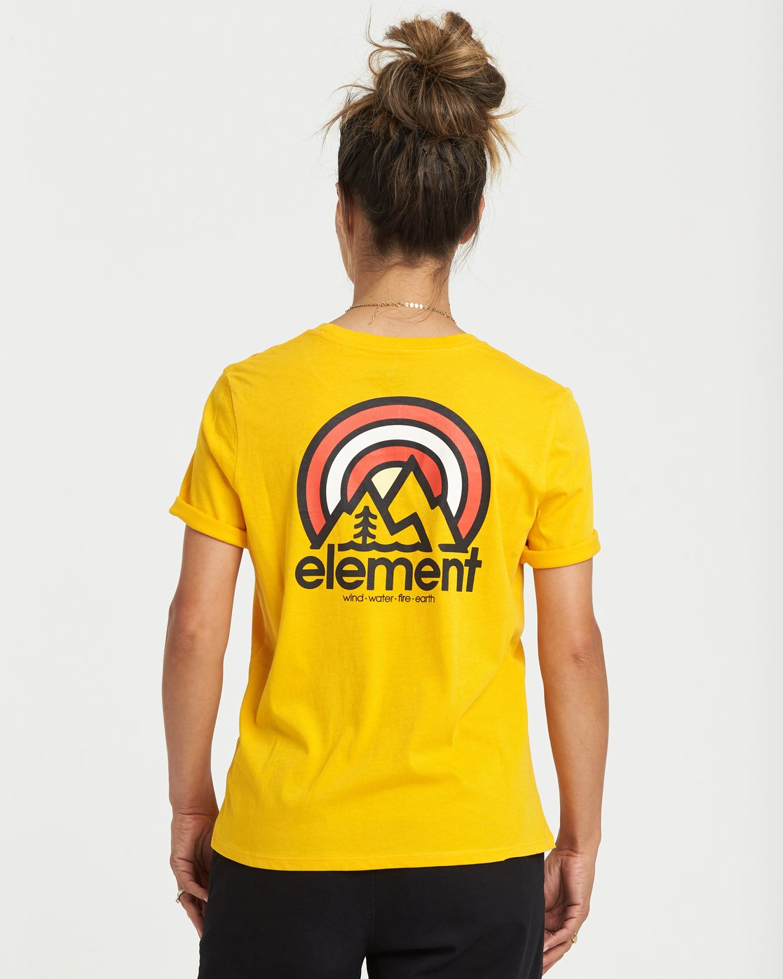 0 Branded T-Shirt Yellow J4031EBR Element