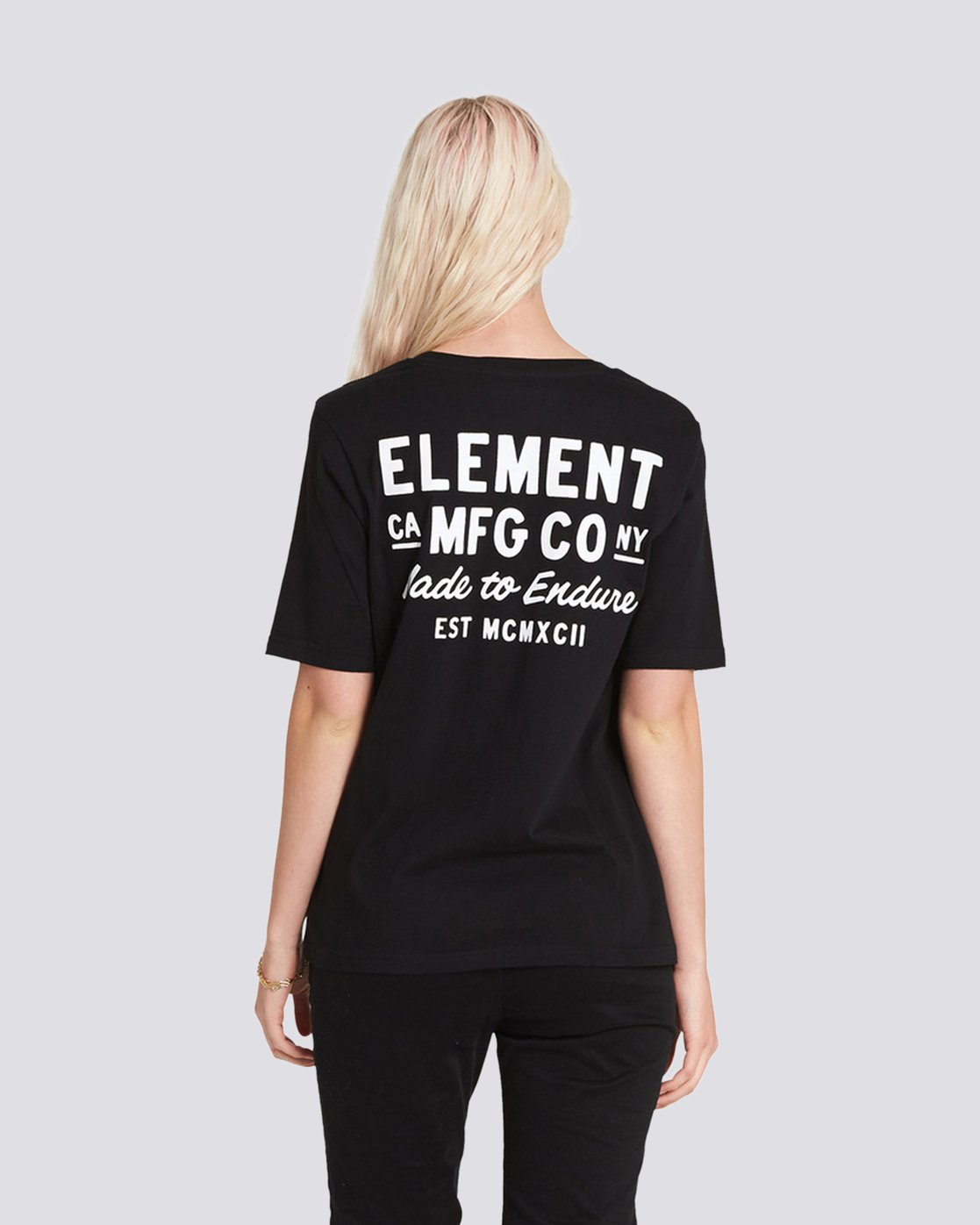 1 Made to Endure Crew Neck Tee Black J467SEME Element