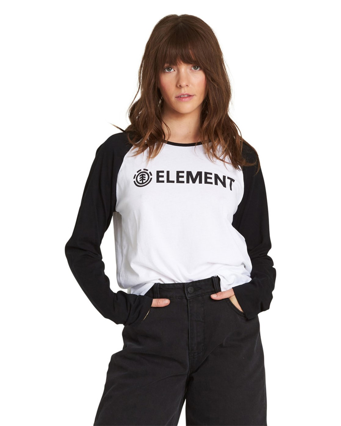 3 Element Logo Raglan Tee  J473QEEL Element