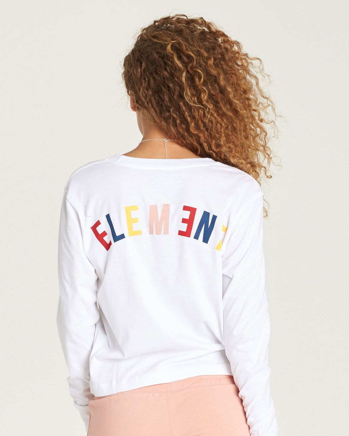 1 Rainbow Crop Long Sleeve White J488TERA Element