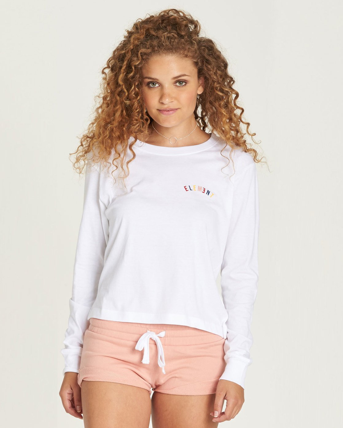 0 Rainbow Crop Long Sleeve White J488TERA Element
